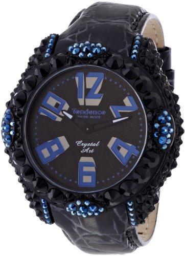 テンデンス グラム クリスタルアート ブラック×ブルー  腕時計 レディース TFC33005/TENDENCE Glam Crystal Art Women's wat…