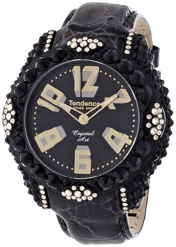 テンデンス グラム クリスタルアート 腕時計 レディース ブラック×ゴールド TFC33003/TENDENCE Glam Crystal Art Women's wat…