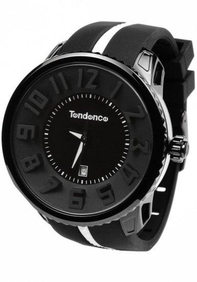 テンデンス ガリバーラウンド ブラック×ホワイトストライプ 腕時計 メンズ レディース 02043014D1/Tendence Gulliver White Stri…