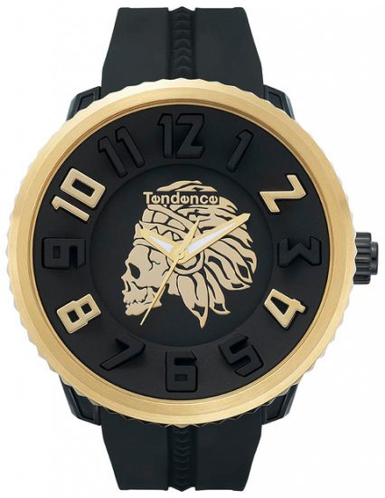 テンデンス×ハイドロゲン ガリバーラウンド アパッチスカル ブラック×ゴールド 腕時計 メンズ 05023015G1/TENDENCE ×Hydrogen  Gulliver Apache Sku…