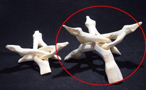 コブラスタンド 大 貝殻丸玉用(白)