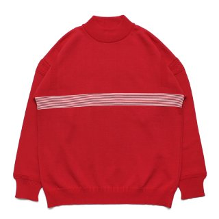 Kaiko Line Mock Knit / RED