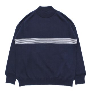 Kaiko Line Mock Knit / NAVY