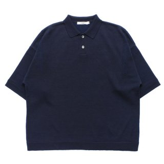 Mikage Knit Polo / D.NAVY