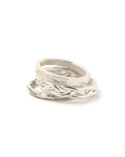 3PIECE SILVER RING