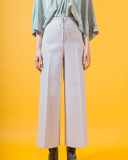 CENTER ZIPPER WIDE PANTS