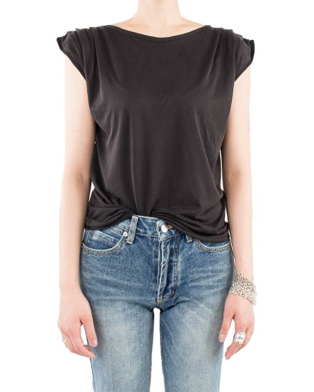 SHOULDER SHIRRING T-SHIRTS