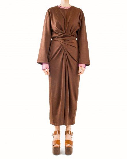 TIE CROSSING LONG DRESS