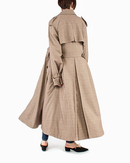 GLEN CHECK TRENCH COAT
