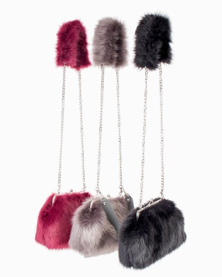 SHOULDER FUR BAG