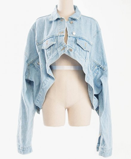 ASYMMETRY DENIM JACKET