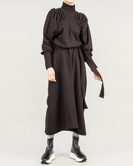 【 NEW 】SWEAT SHIRRING DRESS