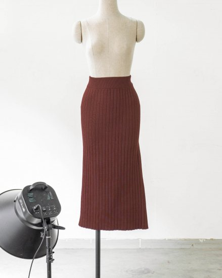 【 NEW 】KNIT SLIT SKIRT