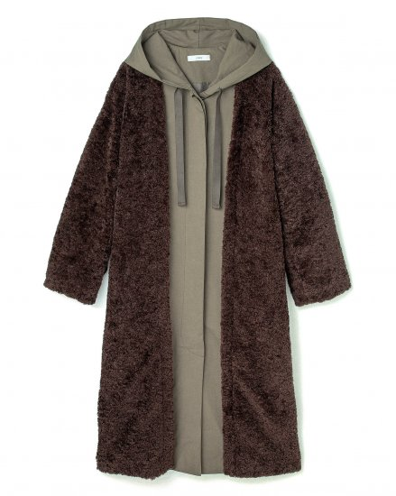 【 NEW 】LAYERD BOA COAT