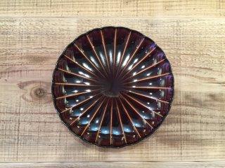 美濃焼き ぎやまん陶 漆ブラウン 六寸皿