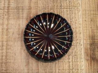 美濃焼き ぎやまん陶 漆ブラウン 三寸皿