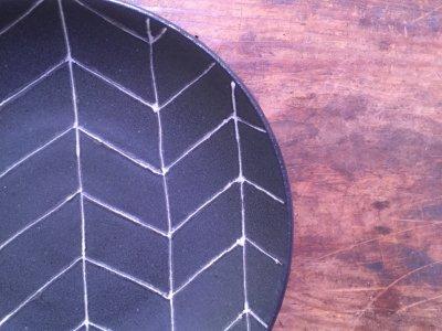 福澤洋子さんのヘリンボーン皿