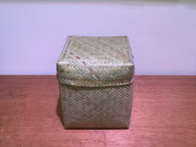 【松野屋】ラオスバンブーBOX正方形L