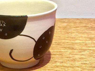 矢島操さんのモノクロフリーカップ(ザクロ)