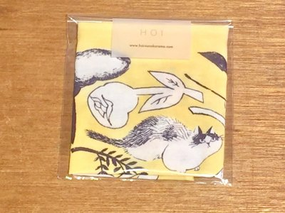 HOI 猫のハンカチ(黄)