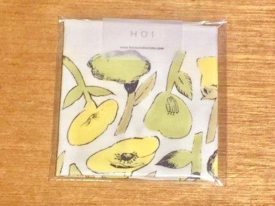 HOI 花のハンカチ(緑)