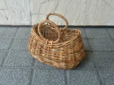 ラウンドハンドルバスケット【アナログ製】