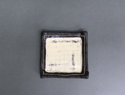 小林幸市さんの化粧掻き落とし文様 小皿