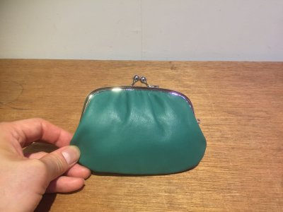 【松野屋】がま口財布 緑