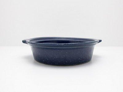 古谷浩一さん(信楽)のルリ釉 耐熱グラタン皿 大