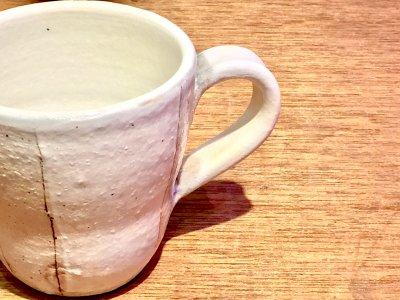 汚れがつきにくい工夫のマグカップ 古谷浩一さん(信楽)の荒鉄線 マグカップ