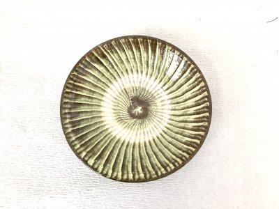 小鹿田焼 刷毛目皿 6寸皿(坂本工窯)