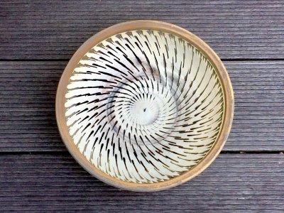 小鹿田焼 ふち重皿 6寸皿(坂本工窯)
