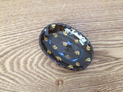 山口和声(三重県)さんのスリップウェア 楕円豆皿