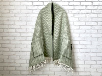 LAPUANKANKURIT(ラプアンカンクリ) IIDA PocketShawl lightcamouflage×white