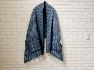 LAPUANKANKURIT(ラプアンカンクリ) IIDA PocketShawl blue×white