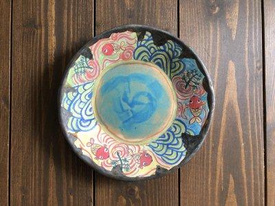 春信工房 金魚の絵皿(水紋)