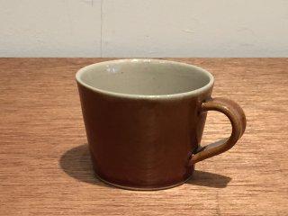 益子焼 道祖土和田窯 マグカップ アメ色