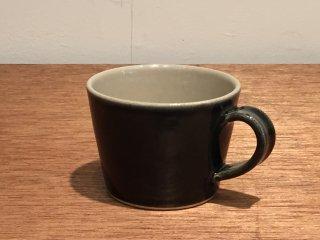 益子焼 道祖土和田窯 マグカップ 呉須釉線紋