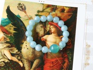 【AM6女神のブレスレッド/ヘルメス】売り上げUP商売の神が贈るアクアマリンブレス