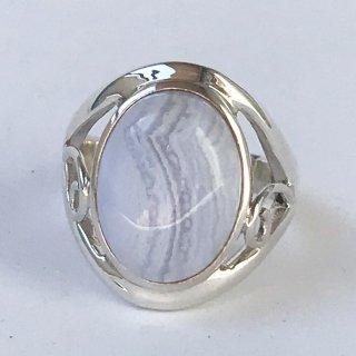 天然石アクセサリー 指輪  ブルーレースアゲート #16