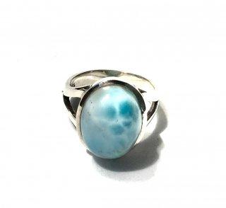 天然石アクセサリー 指輪 ラリマー #16