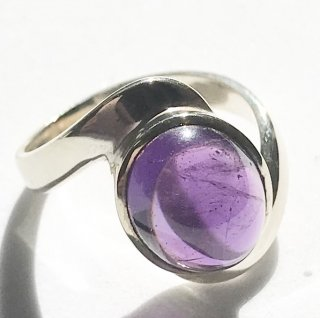 天然石アクセサリー 指輪 アメジスト #11