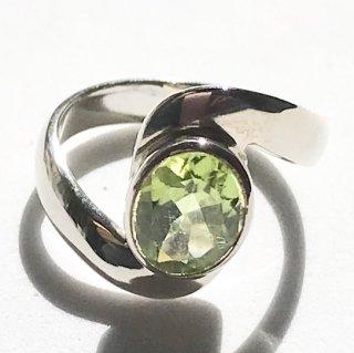 天然石アクセサリー 指輪 ペリドット #12