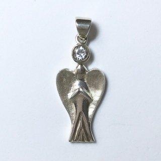 天然石アクセサリーペンダント 天使大 水晶