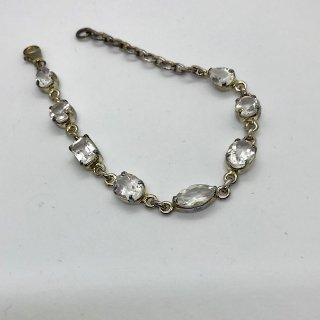 天然石シルバーブレスレット*幸運、浄化*16cm〜 水晶