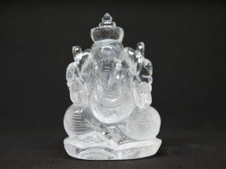 天然石 飾り物・置き物 ガネーシュヒマール水晶 ガネーシャ