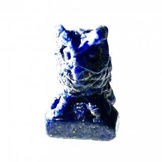 天然石 飾り物・置き物 ラピスラズリ フクロウ
