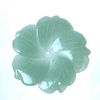 天然石 飾り物・置き物 アベンチュリン 花