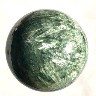 天然石 丸玉 セラフィナイト  53mm