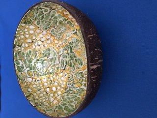 雑貨 ココナッツ小物入れ 緑